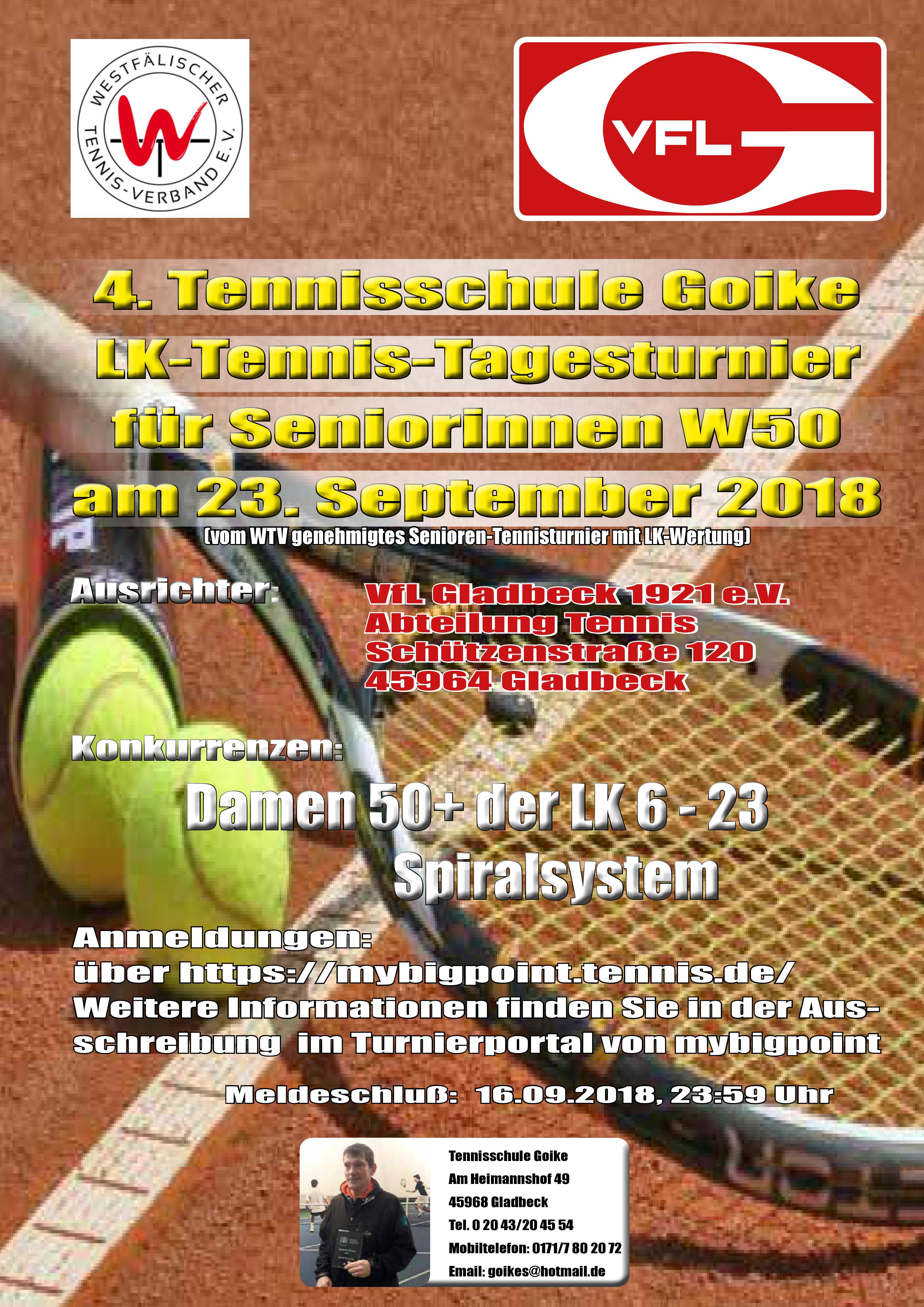 Read more about the article 4. Tennisschule Goike LK Tennisturnier W50